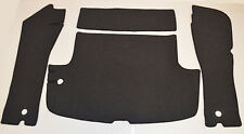 Black loop trunk carpets kit for Volvo P1800 E / S with tank passage