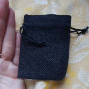 Gift Bag Drawstring Pouch Bag Small Black Jute Pouch For Jewelry