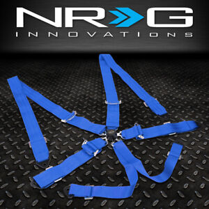 "NRG INNOVATIONS SBH-6PCBL 6-POINT 2""WIDTH SEAT BELT HARNESS W/CAM LOCK BUCKLE"