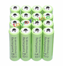 16x AA 1.2V 3000mAh Ni-MH batería recargable celular 2A / RC Verde
