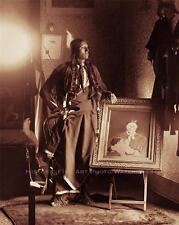 COMANCHE CHIEF QUANAH PARKER VINTAGE PHOTO NATIVE AMERICAN INDIAN 1882  #21274