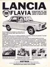 1961 LANCIA FLAVIA ~ ORIGINAL HOFFMAN MOTORS PRINT AD