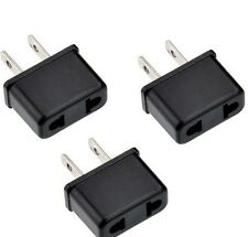 3 Pcs US-USA to EU-Europe Power Plug Adapter for USA converter.Free Shipping