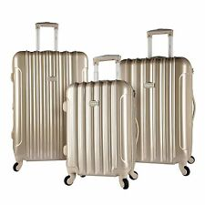 PALE GOLD Kensie Luggage 3 PC Expandable Hard Side Double Spinner Luggage Set