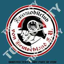 AUTOMOBIL CLUB VON DEUTSCHLAND STICKER DECAL HOT ROD RAT ROD VINTAGE AUTOMOTIVE