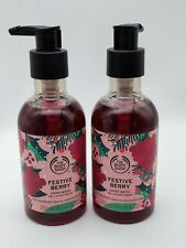 The body shop festive berry hand wash cranberry seed oil 250 ml new x 2