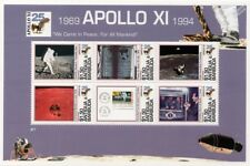 APOLLO XI Moon Landing Astronauts & Nixon Space Stamp Sheet #2 (1994 Antigua)