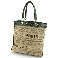Francesco Biasia Tote bag Beige Green Woman Authentic Used Y5919