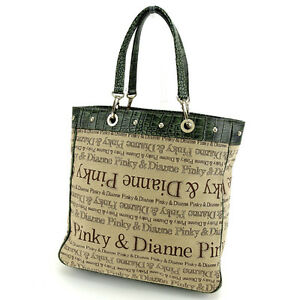 Francesco Biasia Tote bag Beige Green Woman Authentic Used Y5919