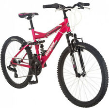 "24"" Mongoose Ledge 2.1 Girls Mountain Bike, Pink Lightweight Stability"