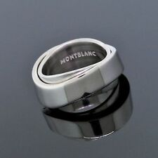 Montblanc Sterling Silver Profile Collection Rotating Ring Size 5.5