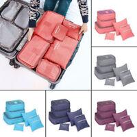 US 1Set Travel Storage Organizer Bag Waterproof Clothes Packing Cube Luggage hot