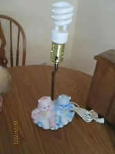 Pink and BlueVintage 1994 Care Bears Lamp Hand Painted Childrens Room Nursery
