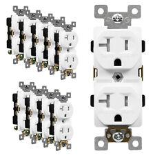 Enerlites a prueba de manipulaciones dúplex receptáculos 15A de salida de luz Almendra Enchufe 10 Pack