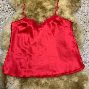 Sudtrikot red Camisole Top sleepwear nightwear size it 48 gb14 us12