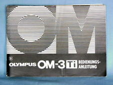 OLYMPUS OM-3Ti OPERATING INSTRUCTIONS MANUAL (GERMAN)