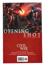 CIVIL WAR OPENING SHOT SKETCHBOOK (NM+) RARE PROMOTIONAL GIVE-AWAY*