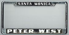 Santa Monica California Peter West Datsun Vintage Dealer License Plate Frame