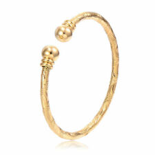 Vintage14k Gold Filled Retro Twill Cuff Bracelets arm Bangles for women Fashion