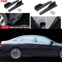 2 X Matt Black Car SUV Side Skirt Spoiler Rocker Splitter Anti-Scratch Spoiler