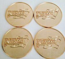 "Dayton Wire Wheels Set Of 4 Gold Metal Eagle Emblems Size 2.38"""