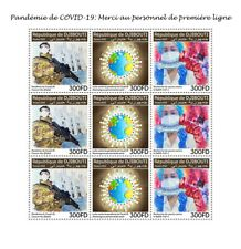 More details for djibouti medical stamps 2020 mnh corona health workers science 9v m/s