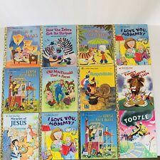 Little Golden Books -  Bulk Lot Of 12 Books - Vintage & From 2000