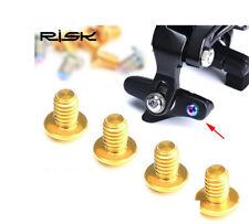 4x RISK TC4 Titanium Screws for Brake Pads Road Bike Bicycle DIY Parts