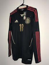 Adidas Mexico Player Issue Long Sleeve Techfit Away Soccer Jersey A Guardado (8)