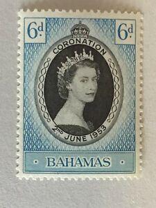 BAHAMAS 1953 SG200 QEII CORONATION  -  MNH