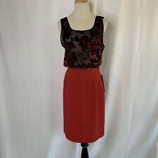 Garfield & Marks Lined Red Pencil Skirt Sz 2 NWT