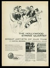 1955 Hollywood String Quartet illustration Capitol Records vintage print ad