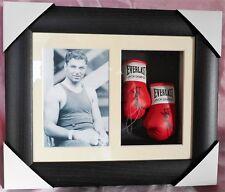 Jack Dempsey Mini Signed Boxing Gloves Framed