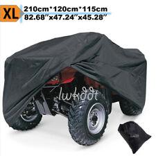 LWKDDT XL Black Waterproof ATV Cover Storage For Kawasaki Bayou 300 KLF300C 4x4