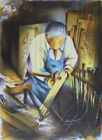 Poulet Raymond: The Menuisier- Litografía Firmada / Numerada #450ex
