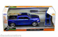 JADA 2014 DODGE RAM 1500 PICKUP TRUCK W/EXTRA WHEELS BLUE 1/24 MODEL 97691