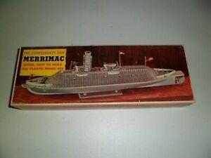 Very Old Rare Pyro The Confederate Ram Merrimac ship boat model kit