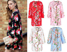 Cherry Blossom Paint Print Floral Jacquard Coat Trench Runway Street Spring