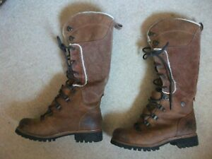 Timberland Vibram Knee High Waterproof Boots, Brown, Timber Dry, Size UK4