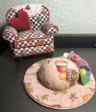 Mary Engelbreit Pin Cushion Lot - Floral Armchair and Gardening Theme Hat