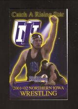 Northern Iowa Panthers--2001-02 Wrestling Pocket Schedule--University Book