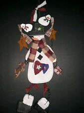 Wooden Hanging Snowmen  Christmas Wall Decor Holiday Decorations