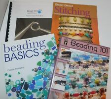 4 Books BEADING Seed Bead Stitching Jewelry Making Chain Maille