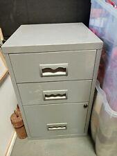 Filing Cabinet. Metal 3 Drawer. Storage Unit.