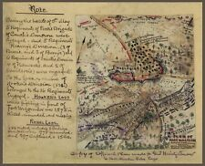 "1862 Map,Civil War, Williamsburg, Virginia, Sketch Drawn Map, 18.5""x14.5"""
