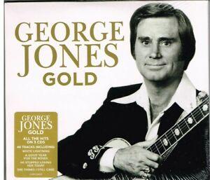 "GEORGE JONES Brand New 3 CD SET ""GOLD"" -  48 TRACKS - Country Music Legend"