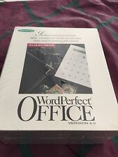 Vintage Word Perfect Client Pack 3.5 Diskettes Version 4.0