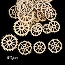 Decoration Natural Wood Wheel Gear Pattern Scrapbooking Ornament Embellishment