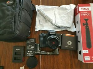 Canon EOS M50 with 15-45mm STM Lens and more