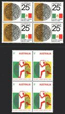 Australia 1968 Olympic Games set of 2 Block of 4 Mint Unhinged